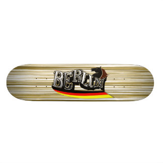 "Personalized skateboard ""Berlin "" with wood sample"