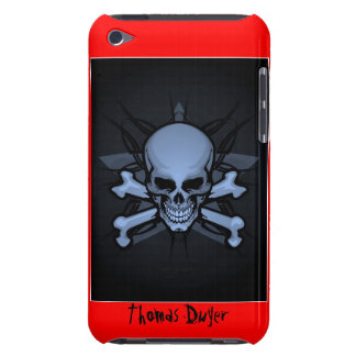 Personalized ! sKuLL cRoSsBoNz IPOD TOUCH 4th gen  iPod Touch Cover
