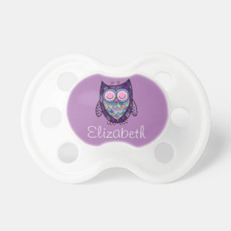 Personalized Sleepy Owl Pacifier