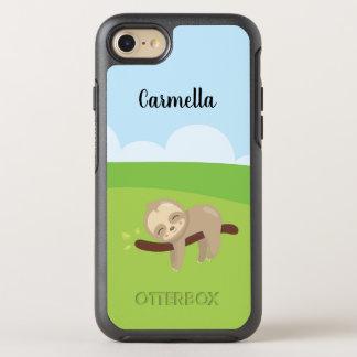 Personalized Sleepy Sloth OtterBox Symmetry iPhone 8/7 Case