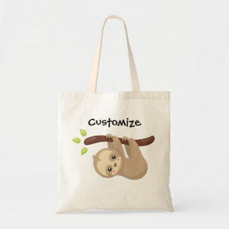Personalized Sloth Tote