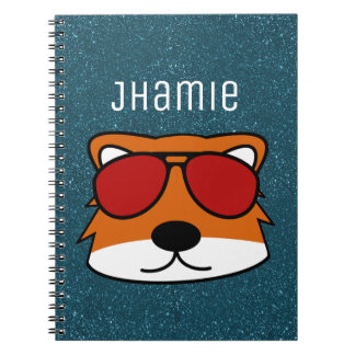 Personalized Sly Fox BG Spiral Notebook