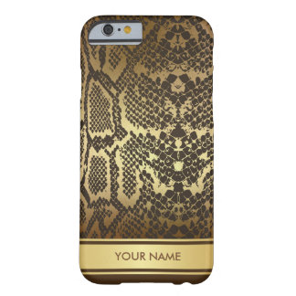 Personalized Snake Skin Glam Chocolate Gold Case