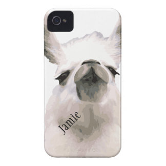 Personalized Snooty Snobby Llama iPhone 4 Case-Mate Case