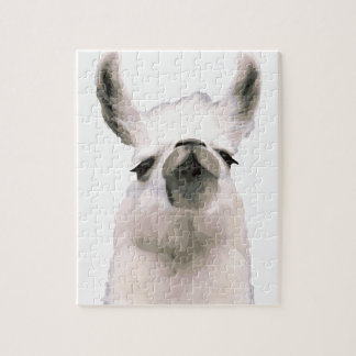 Personalized Snooty Snobby Llama Jigsaw Puzzle