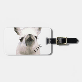 Personalized Snooty Snobby Llama Luggage Tag
