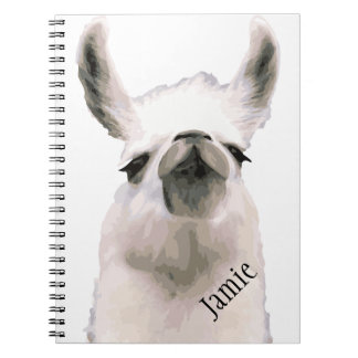 Personalized Snooty Snobby Llama Notebook
