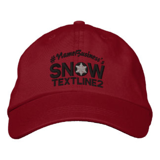 Personalized Snow Embroidered Black And White Embroidered Baseball Cap