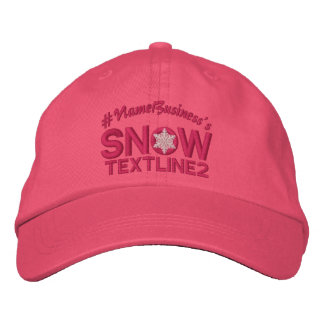 Personalized Snow Embroidered Snowflake Girly Pink Embroidered Baseball Caps