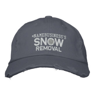 Personalized Snow Removal Embroidery Embroidered Hat