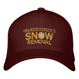 Personalized Snow Removal Golden Snowflake Embroidered Hat