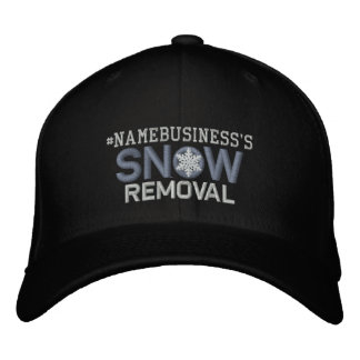 Personalized Snow Removal Snowflake Design Embroidered Hat
