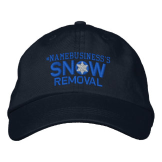Personalized Snow Removal Snowflake in Blue Embroidered Baseball Caps