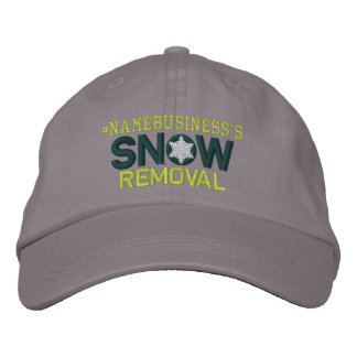 Personalized Snow Removal Snowflakes Embroidered Embroidered Baseball Caps