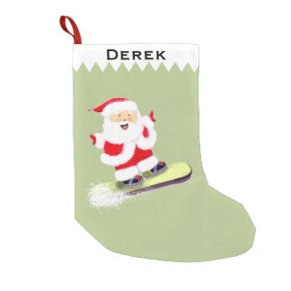 Personalized Snowboarding Gift Small Christmas Stocking