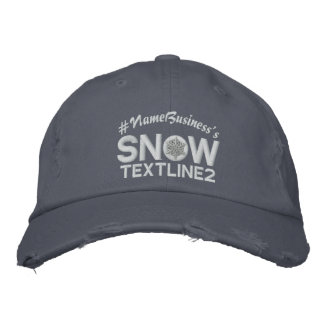 Personalized Snowflake 2 lines Embroidery Embroidered Baseball Caps