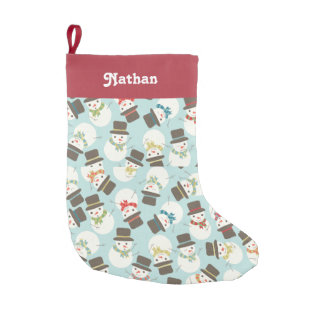 Personalized | Snowman Party Small Christmas Stocking