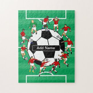 Personalized Soccer Ball and Players Puzzle