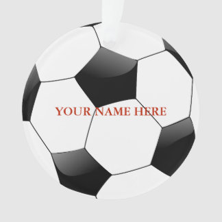 Personalized Soccer Ball Name Christmas Ornament