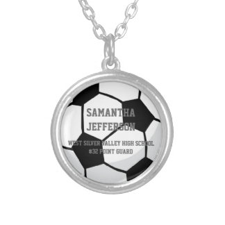 Personalized Soccer Ball Name Number Sport Pendant