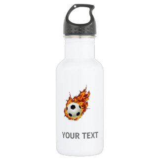Personalized Soccer Ball on Fire 532 Ml Water Bottle