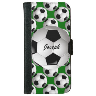 Personalized Soccer ball iPhone 6 Wallet Case