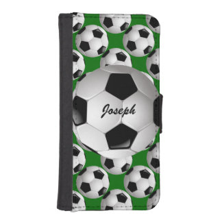 Personalized Soccer ball Phone Wallet Case