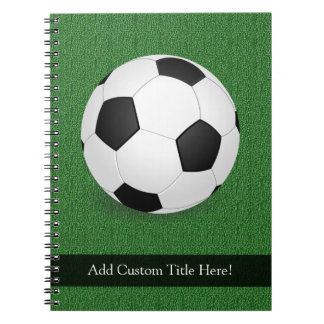 Personalized Soccer Ball Spiral Notebook