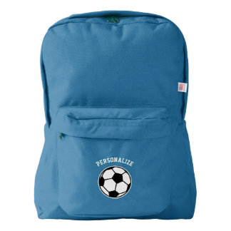 Personalized soccer ball sports school bag