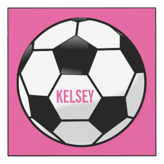 Personalized Soccer Ball with Team Name and Number