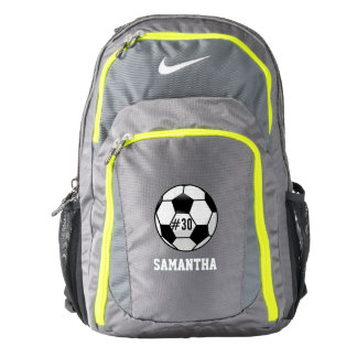 Personalized Soccer Ball with Team Name and Number Backpack