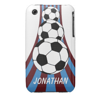 Personalized Soccer design iPhone 3 Case-Mate Cases