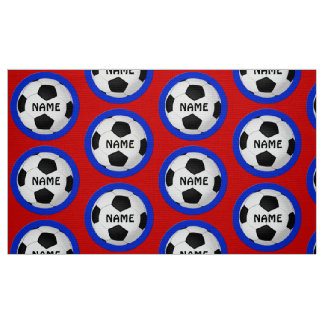 Personalized Soccer Fabric by the Yard YOUR NAME
