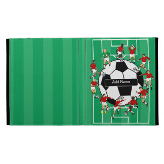 Personalized Soccer football iPad Folio Case