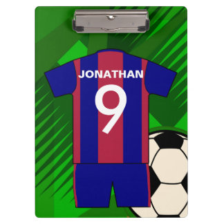 Personalized Soccer football Jersey Clipboard