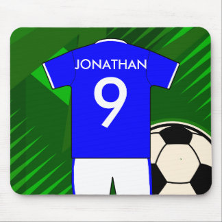 Personalized soccer football jersey mousepads
