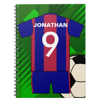 Personalized Soccer football Jersey Notebook
