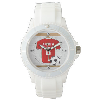 Personalized soccer football jersey wrist watches