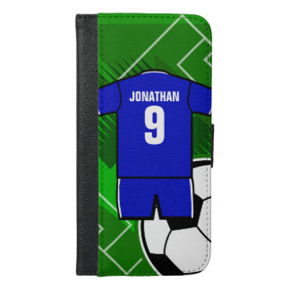 Personalized Soccer Jersey Blue with White