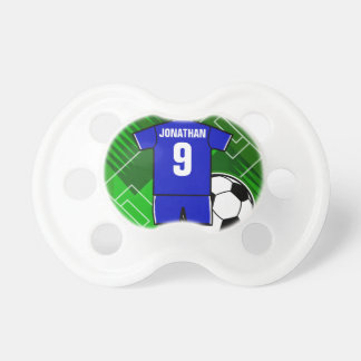 Personalized Soccer Jersey Blue with White Dummy
