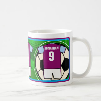 Personalized Soccer Jersey name and number Basic White Mug