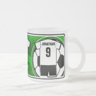 Personalized Soccer Jersey name and number bkw2 Coffee Mugs