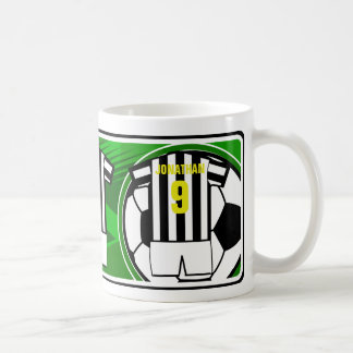 Personalized Soccer Jersey name and number Bkws Coffee Mug