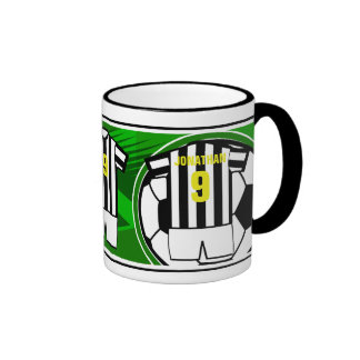 Personalized Soccer Jersey name and number Bkws Ringer Mug