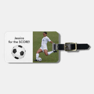 Personalized Soccer Photo Template Luggage Tag