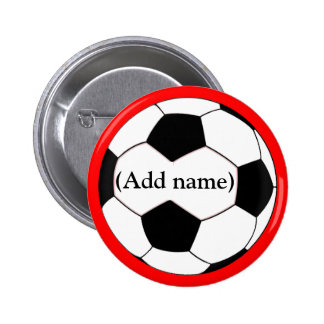 Personalized Soccer Pin/Button 6 Cm Round Badge