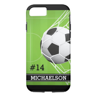 Personalized Soccer Player Name and Number iPhone 8/7 Case