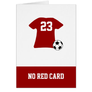 Personalized Soccer Shirt With Ball Card