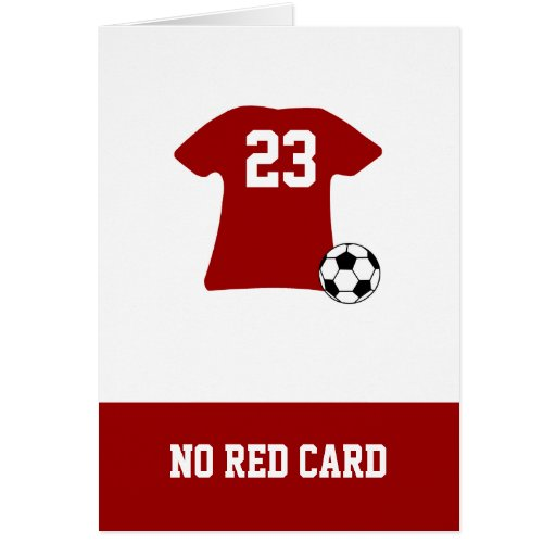 Personalized Soccer Shirt With Ball Greeting Cards