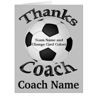 Personalized Soccer Thank You Cards, INSTRUCTIONS Big Greeting Card
